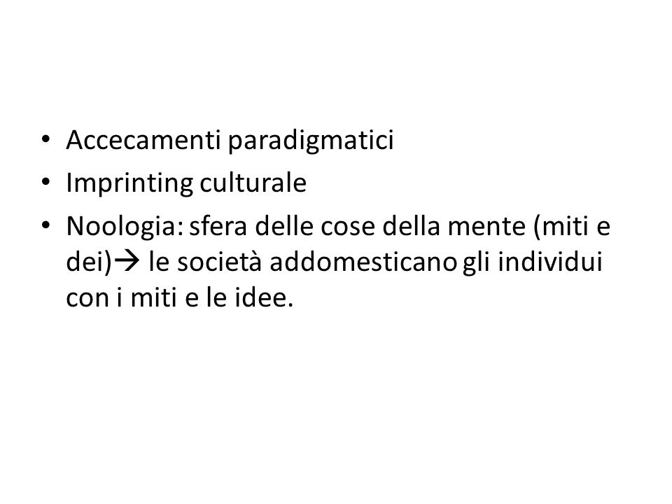 Accecamenti paradigmatici