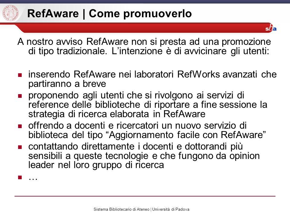 RefAware | Come promuoverlo