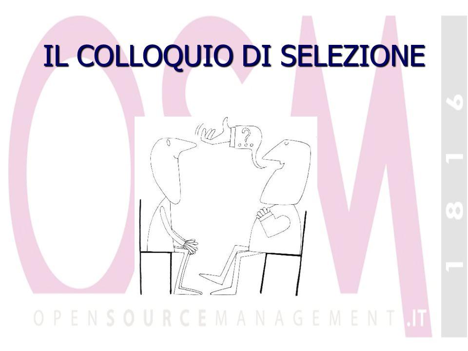 IL COLLOQUIO DI SELEZIONE