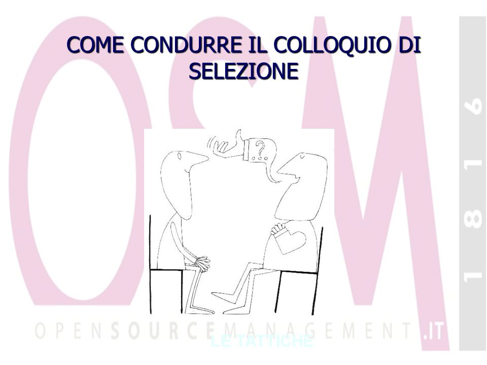 COME CONDURRE IL COLLOQUIO DI SELEZIONE