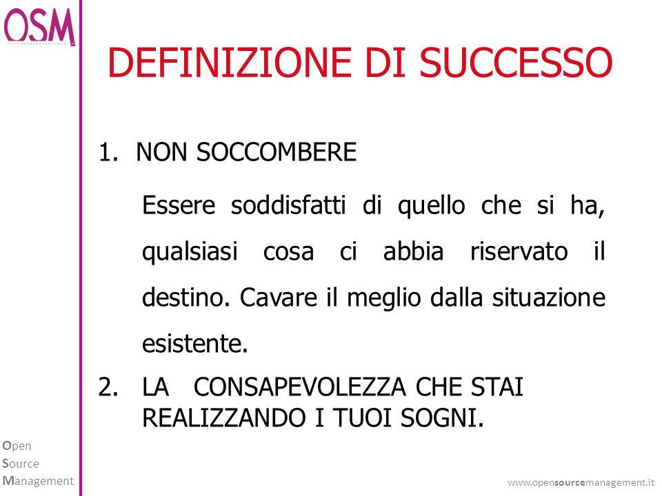 DEFINIZIONE DI SUCCESSO