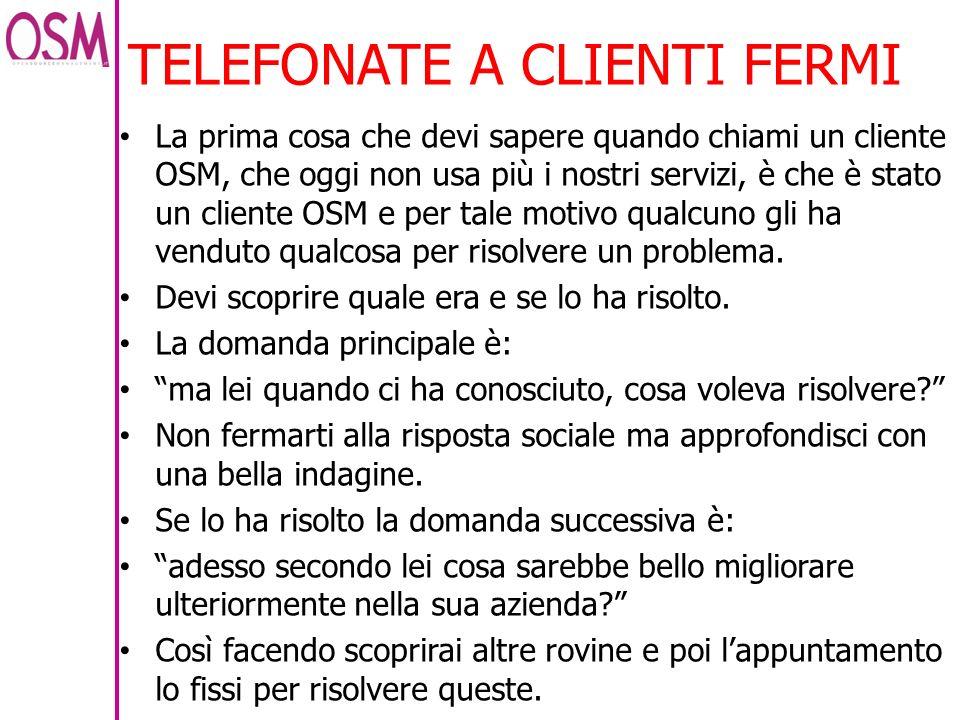 TELEFONATE A CLIENTI FERMI