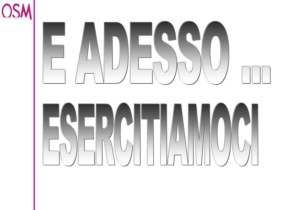 E ADESSO ... ESERCITIAMOCI LETTURA DEL MANUALE