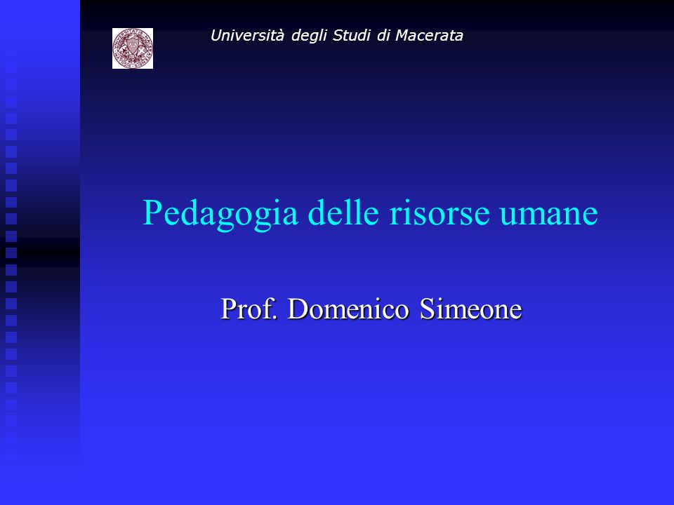 Pedagogia delle risorse umane
