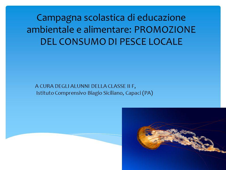 Campagna scolastica di educazione ambientale e alimentare: PROMOZIONE DEL CONSUMO DI PESCE LOCALE