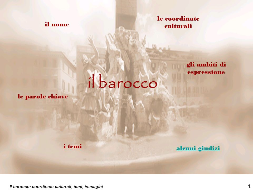 il barocco le coordinate culturali il nome gli ambiti di espressione