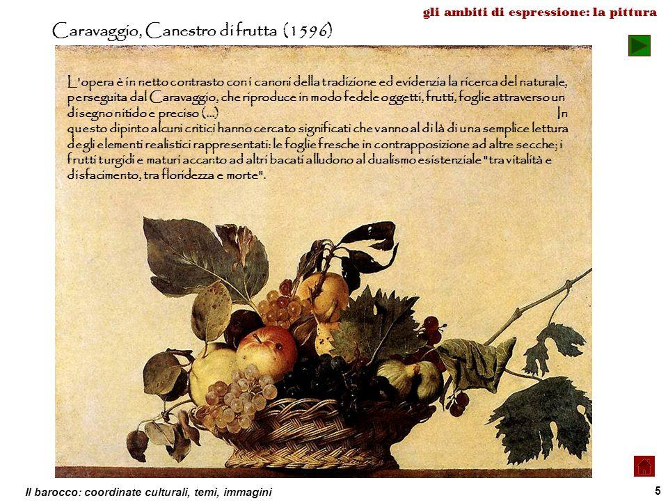 Caravaggio, Canestro di frutta (1596)