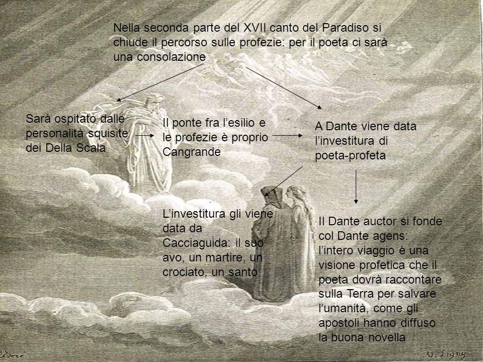 Nella seconda parte del XVII canto del Paradiso si chiude il percorso sulle profezie: per il poeta ci sarà una consolazione
