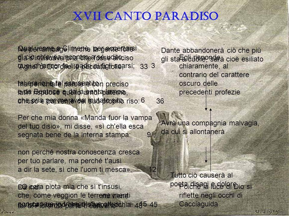 XVII CANTO PARADISO