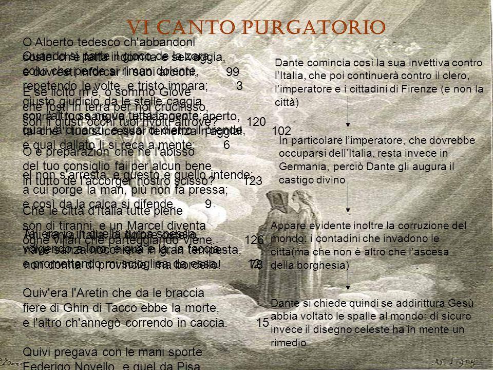 VI CANTO PURGATORIO