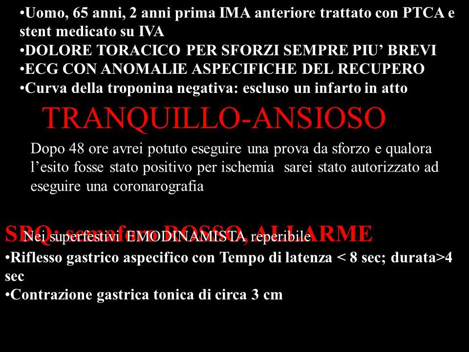 TRANQUILLO-ANSIOSO SBQ: semaforo ROSSO, ALLARME
