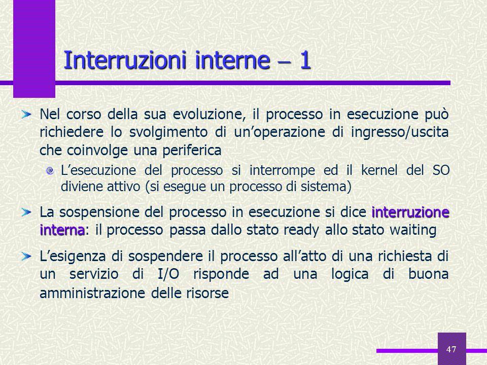 Interruzioni interne  1