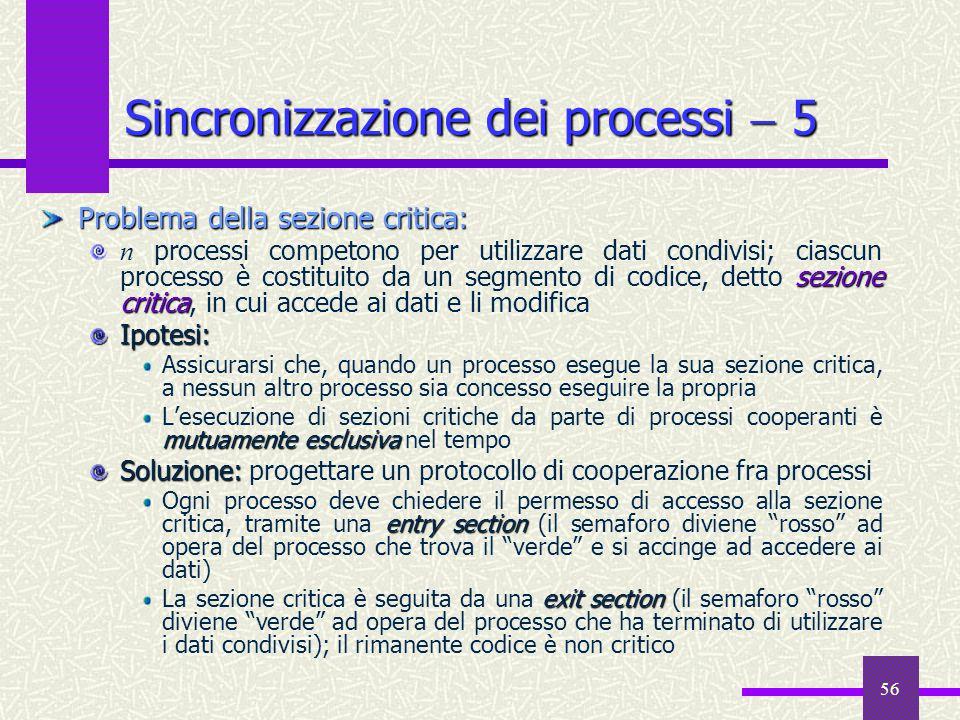 Sincronizzazione dei processi  5