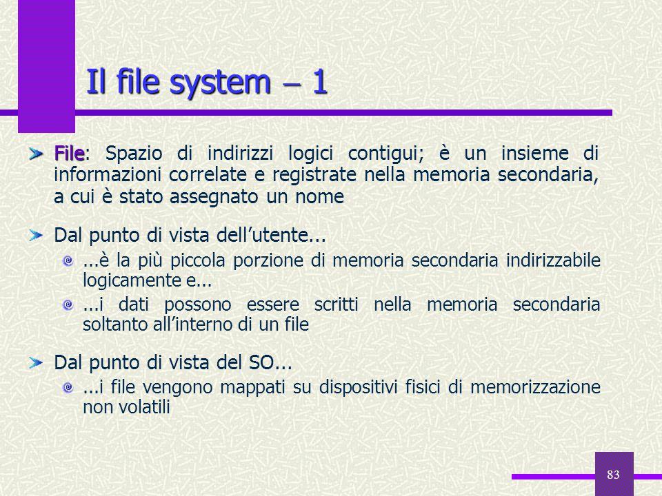 Il file system  1