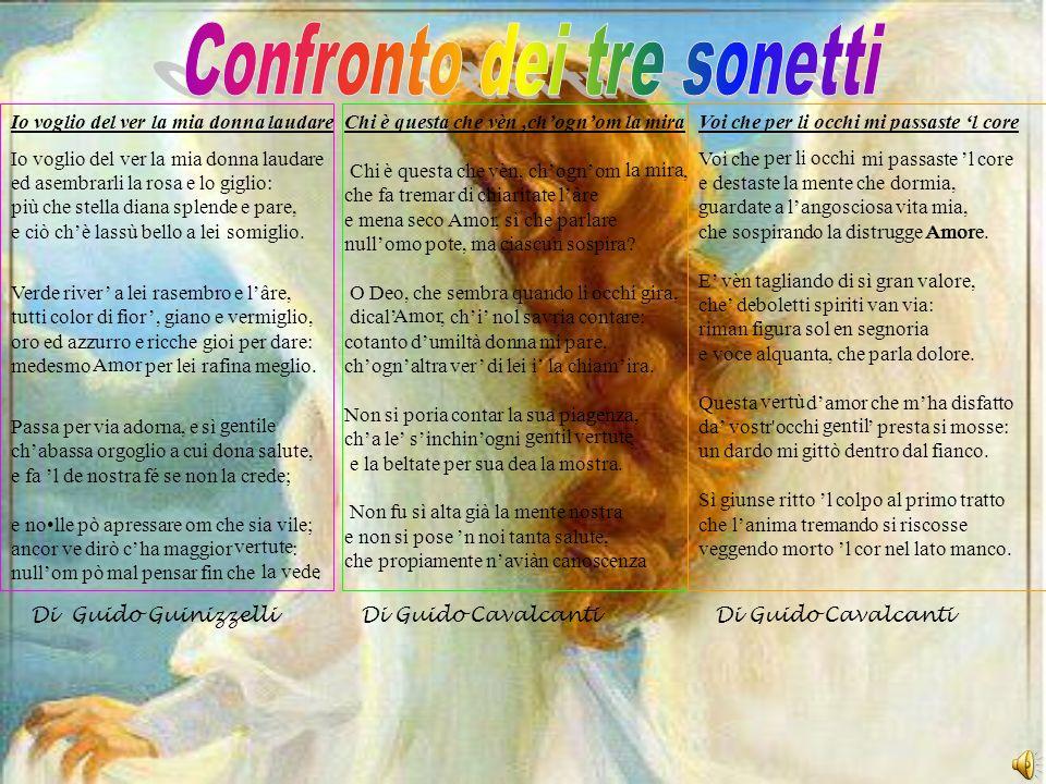 Confronto dei tre sonetti