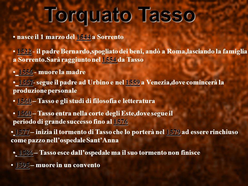 Torquato Tasso nasce il 1 marzo del 1544 a Sorrento