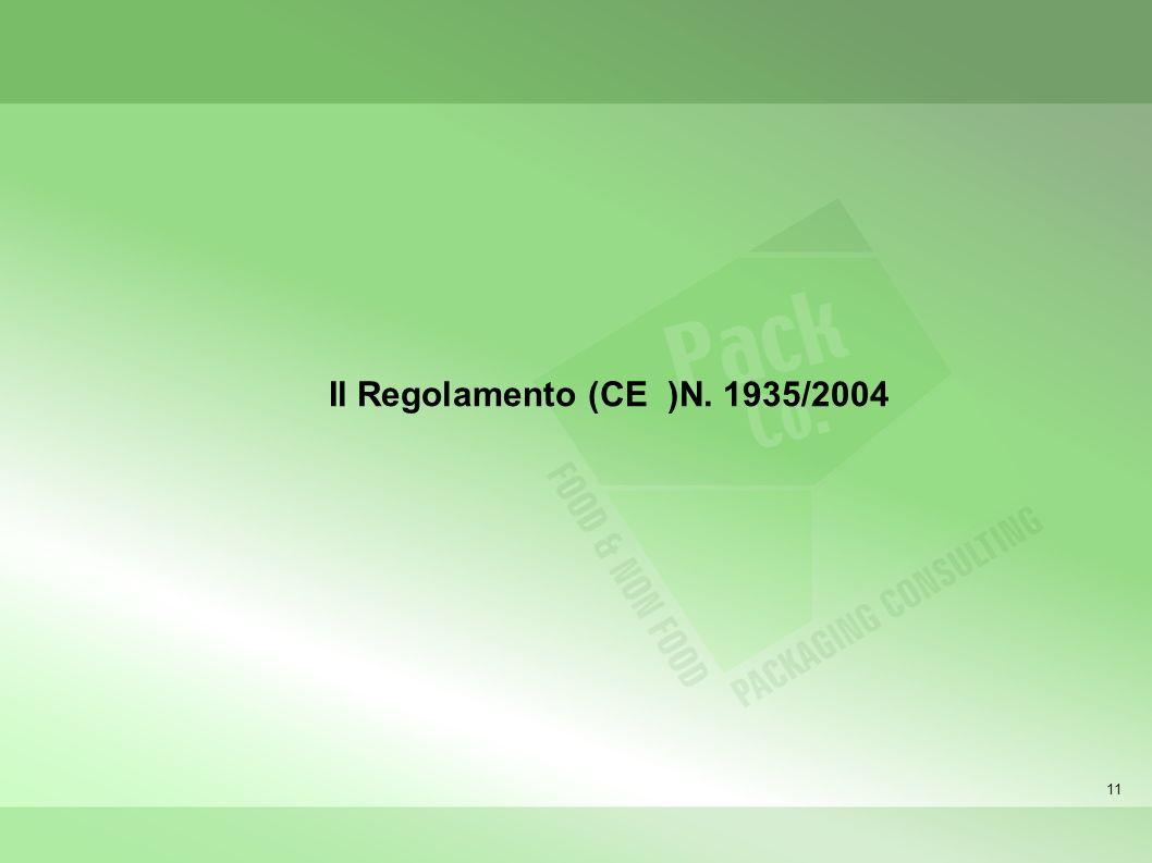 Il Regolamento (CE )N. 1935/2004 11 11