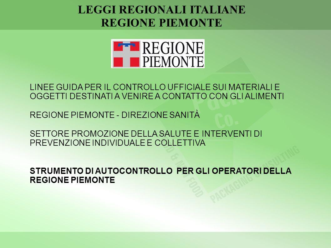 LEGGI REGIONALI ITALIANE