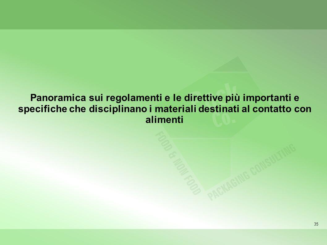 Panoramica sui regolamenti e le direttive più importanti e specifiche che disciplinano i materiali destinati al contatto con alimenti