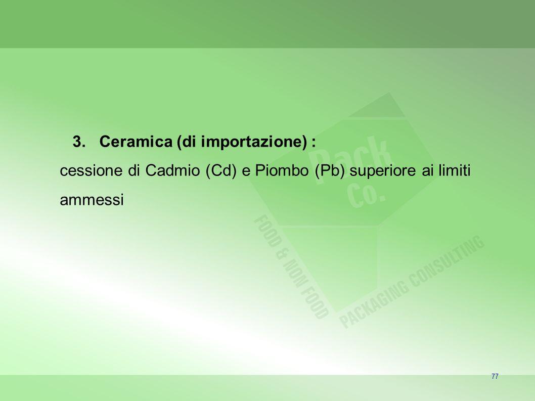 Ceramica (di importazione) :