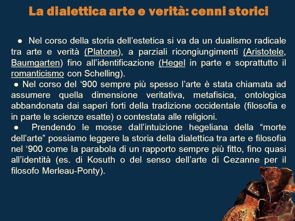La dialettica arte e verità: cenni storici