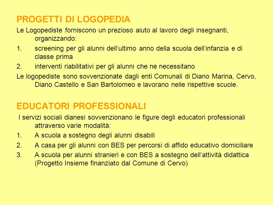 EDUCATORI PROFESSIONALI