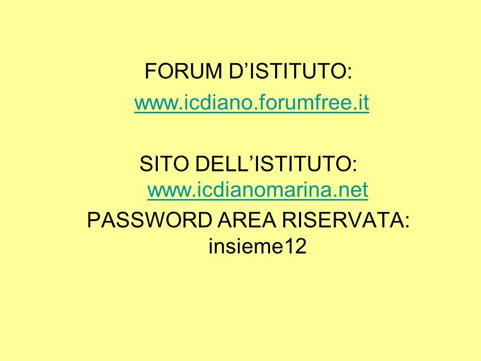 SITO DELL'ISTITUTO: www.icdianomarina.net