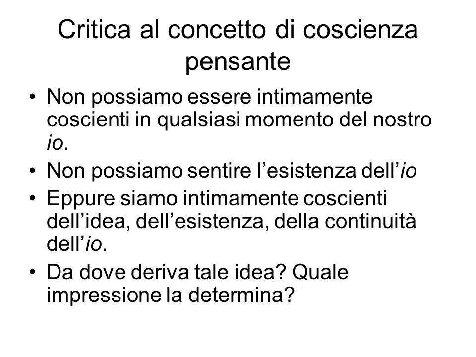 Critica al concetto di coscienza pensante