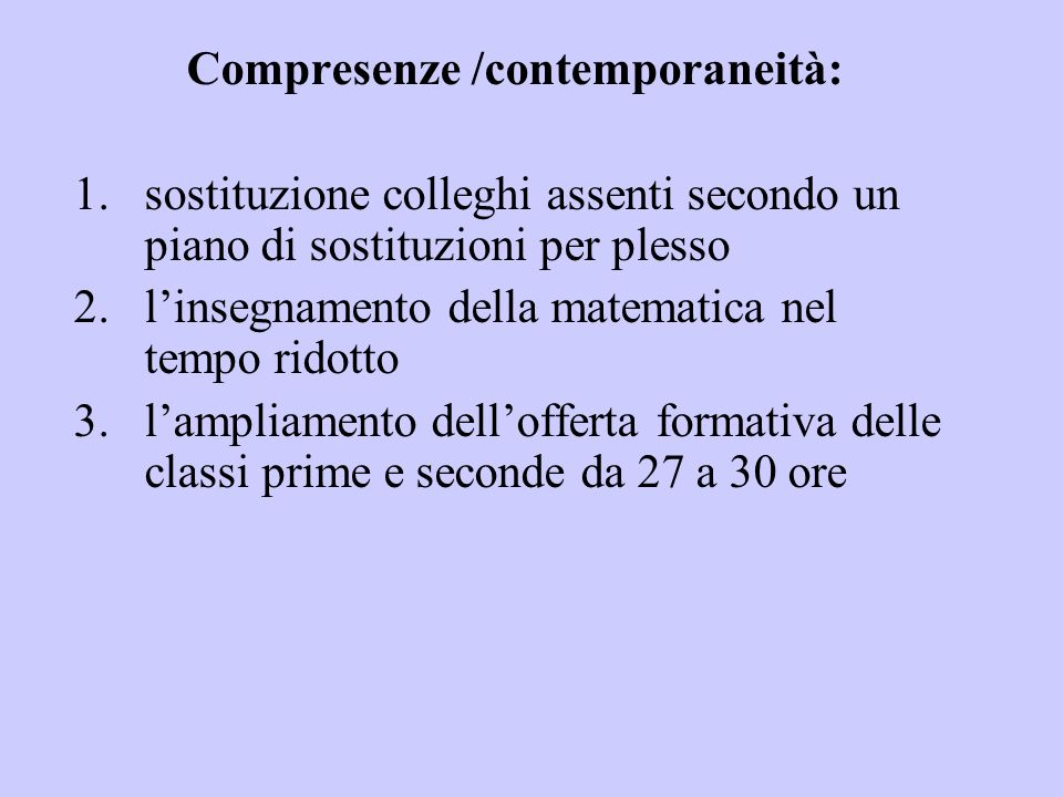 Compresenze /contemporaneità: