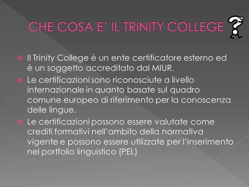 CHE COSA E' IL TRINITY COLLEGE