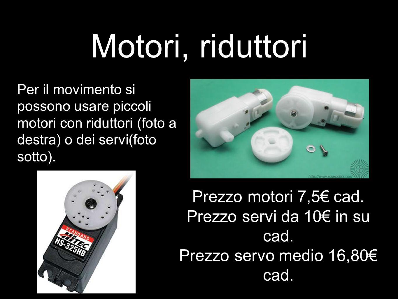 Motori, riduttori Prezzo motori 7,5€ cad.