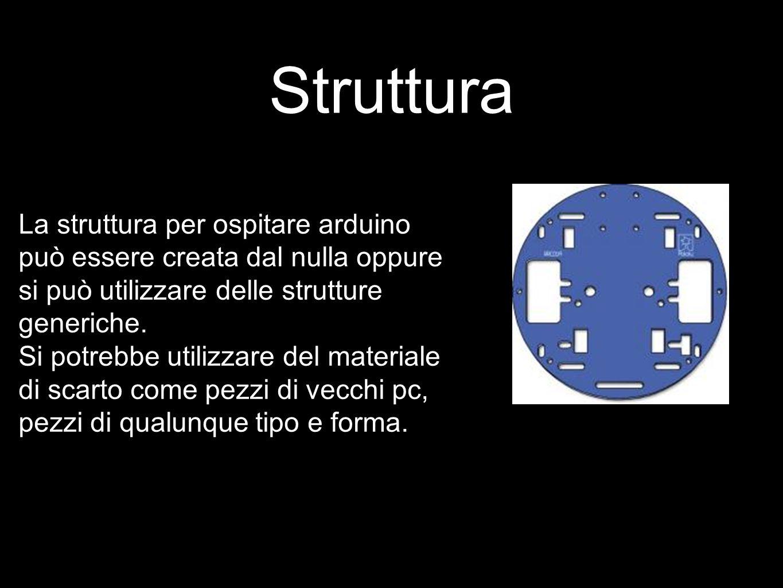Struttura La struttura per ospitare arduino può essere creata dal nulla oppure si può utilizzare delle strutture generiche.