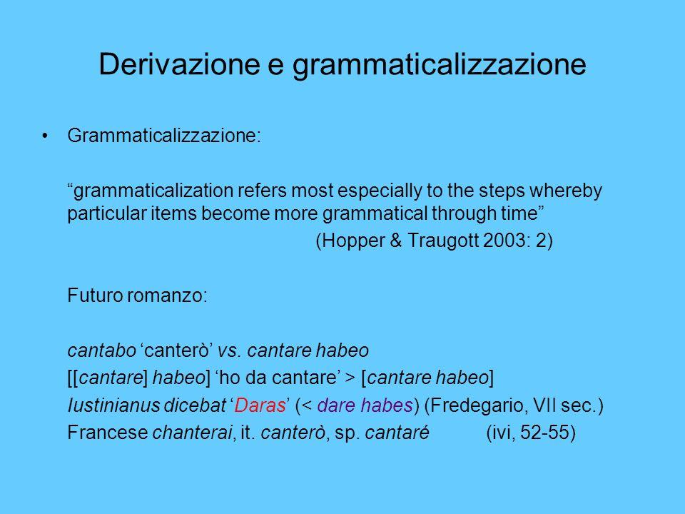 Derivazione e grammaticalizzazione