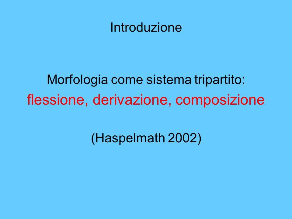 flessione, derivazione, composizione