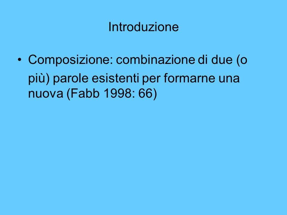 Introduzione Composizione: combinazione di due (o.