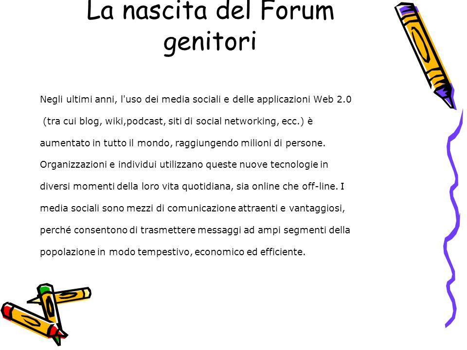 La nascita del Forum genitori