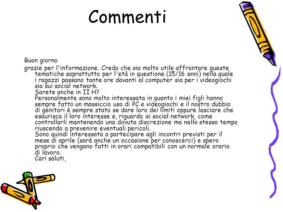 Commenti Buon giorno.