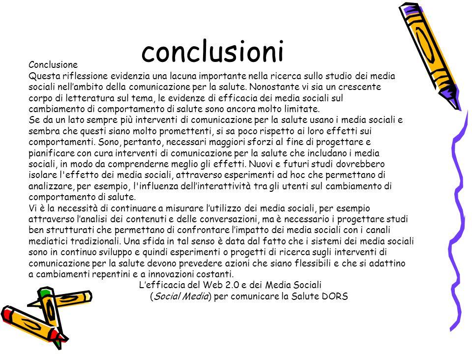 conclusioni Conclusione