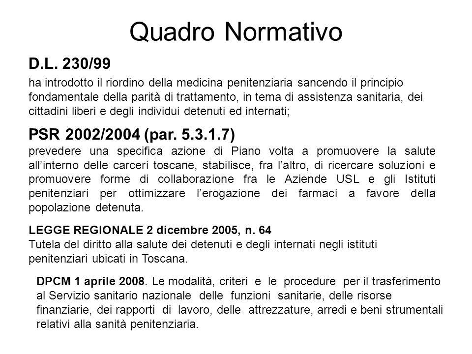Quadro Normativo D.L. 230/99 PSR 2002/2004 (par. 5.3.1.7)
