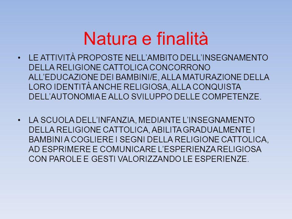 Natura e finalità