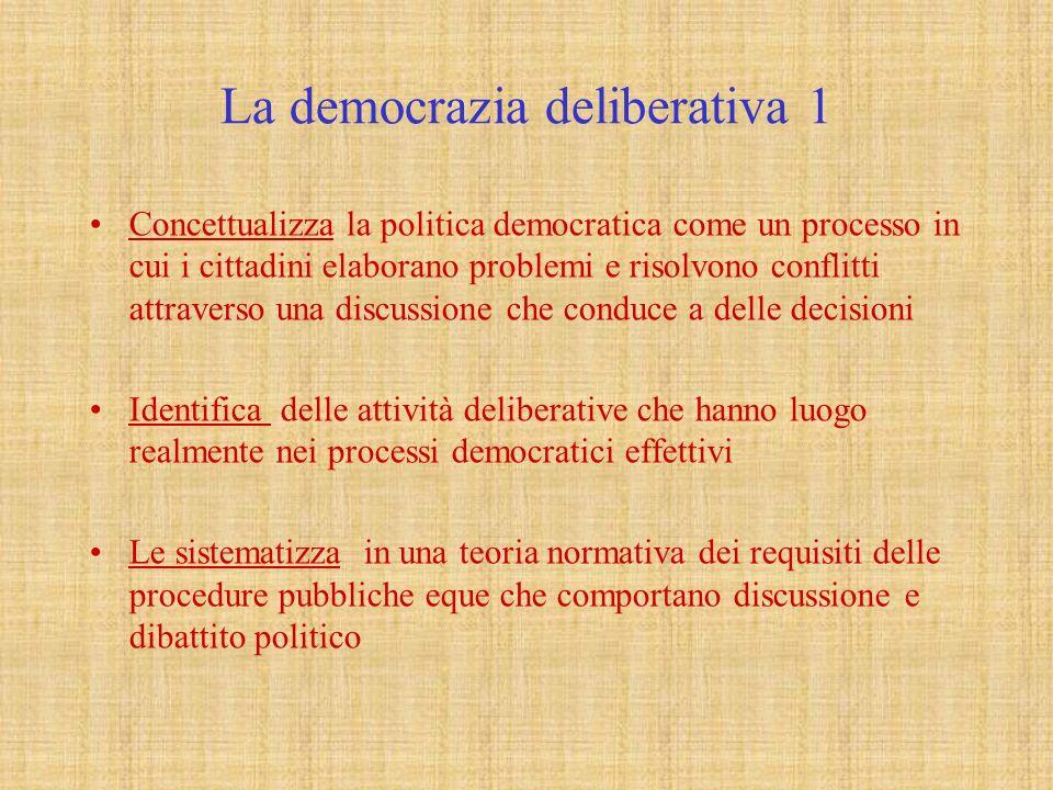 La democrazia deliberativa 1