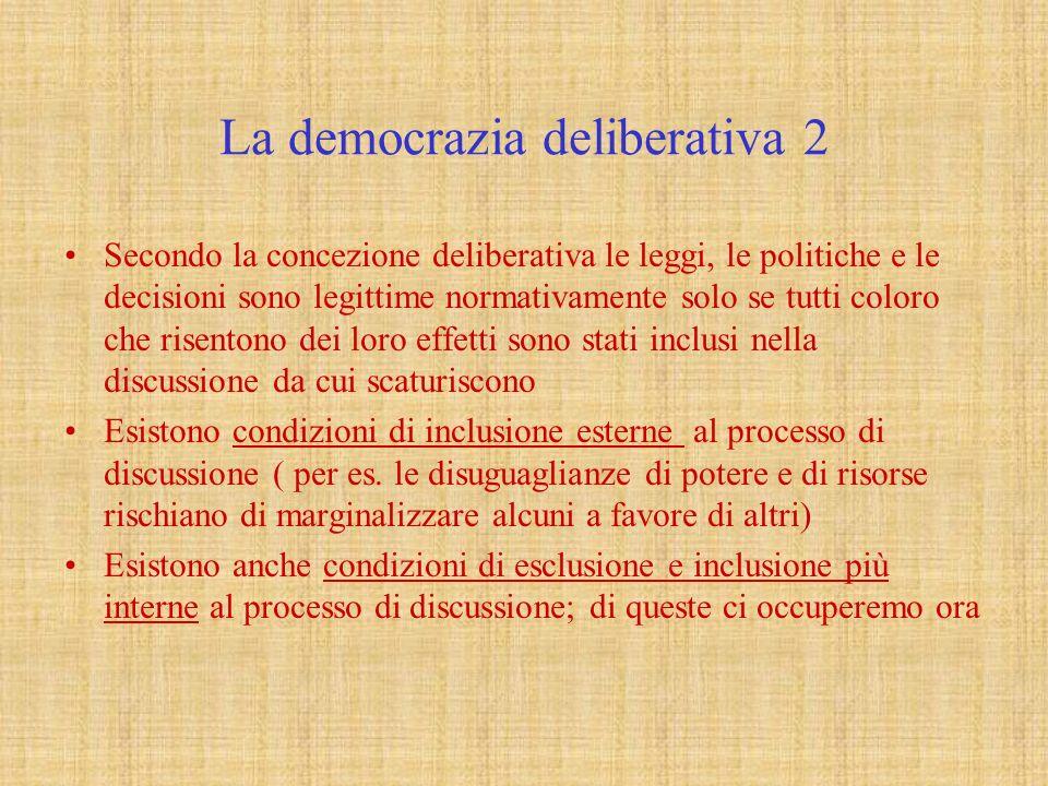 La democrazia deliberativa 2