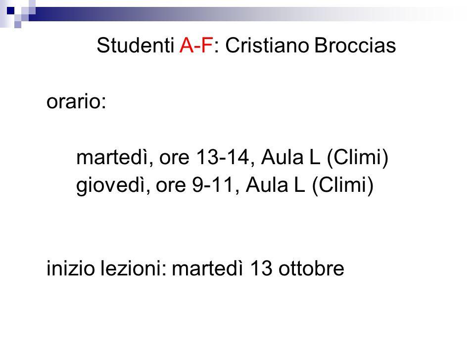 Studenti A-F: Cristiano Broccias