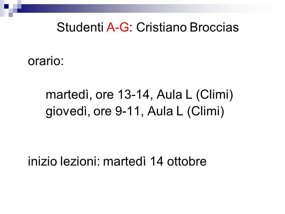 Studenti A-G: Cristiano Broccias