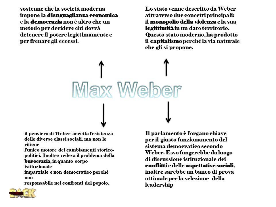 Max Weber sostenne che la società moderna
