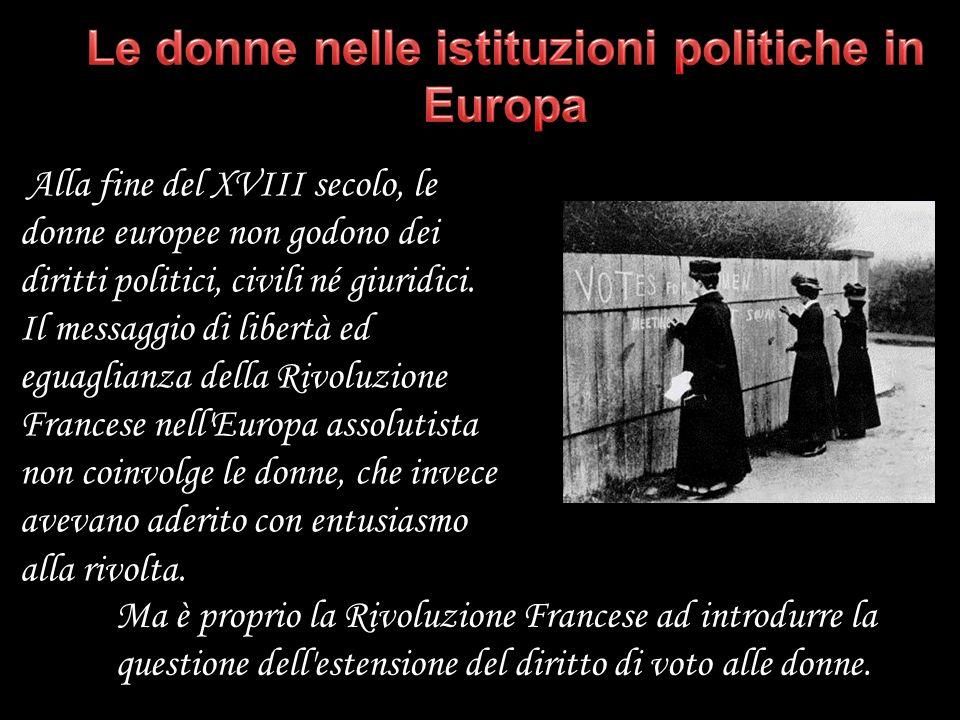 Le donne nelle istituzioni politiche in Europa