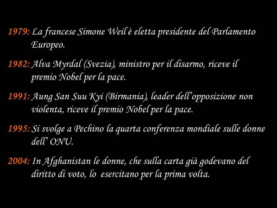 1979: La francese Simone Weil è eletta presidente del Parlamento