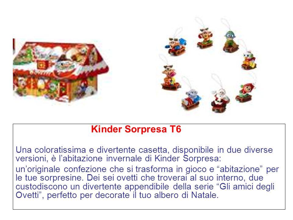 Kinder Sorpresa T6 Una coloratissima e divertente casetta, disponibile in due diverse versioni, è l'abitazione invernale di Kinder Sorpresa: