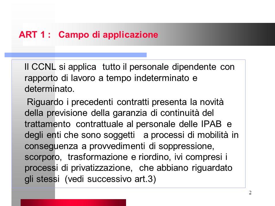 ART 1 : Campo di applicazione