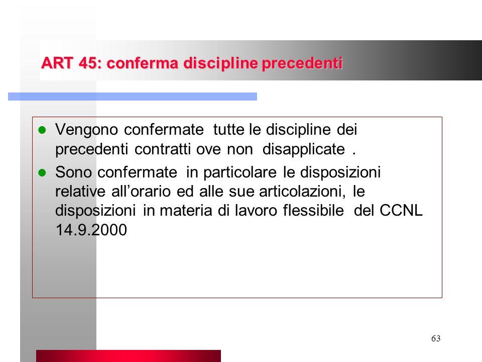 ART 45: conferma discipline precedenti